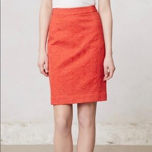 Anthro Vanessa Virginia Rose Brocade Pencil Skirt